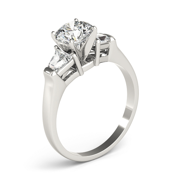 Large Baguette Diamond Engagement Ring