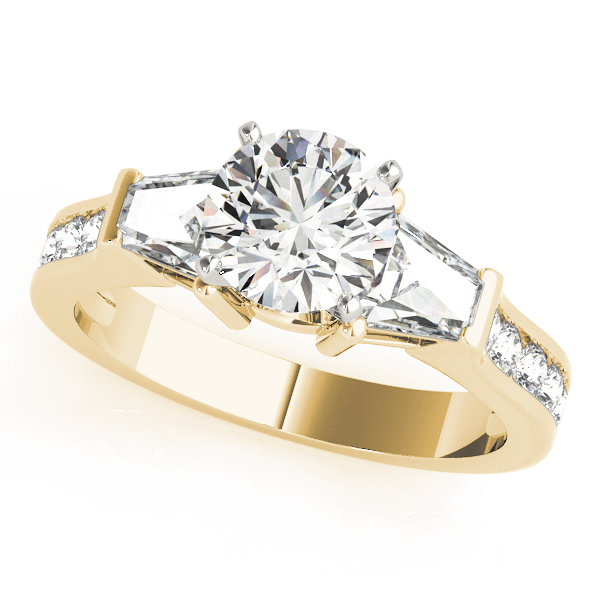 Brilliant Bagutte Diamond Ring Yellow Gold