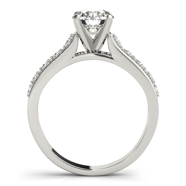 Cathedral Split Band Diamond Engagement Ring