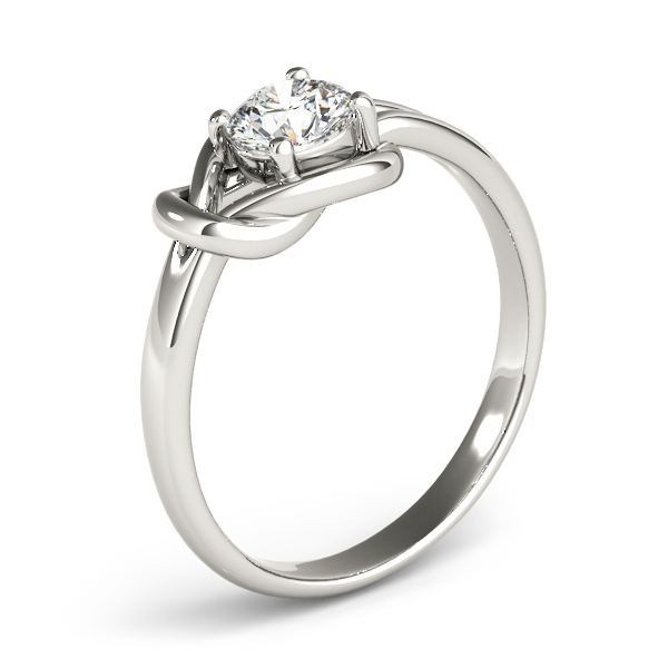Solitaire Love Knot Engagement Ring