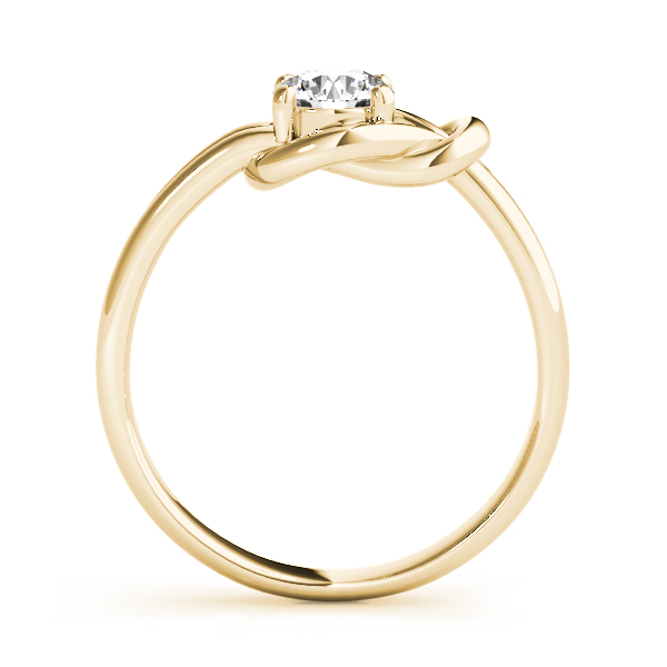 Solitaire Love Knot Ring Yellow Gold