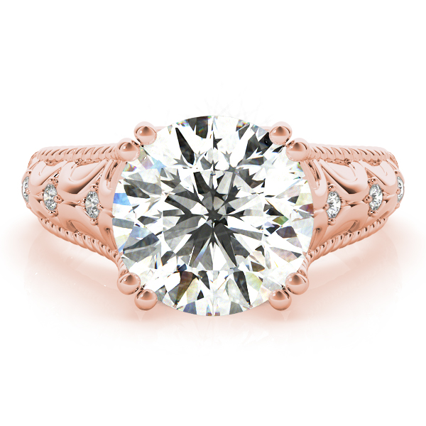 Butterfly Engagement Ring for Large Diamonds Rose Gold