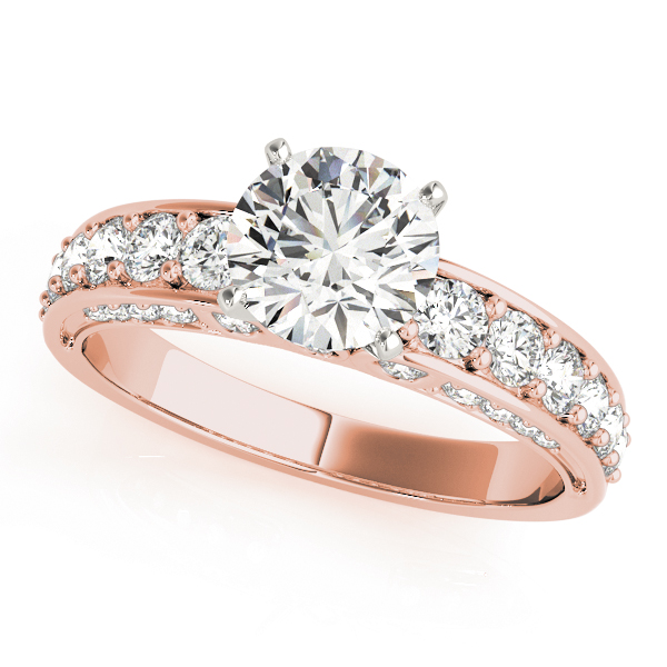 Vintage Diamond Engagement Ring in Rose Gold