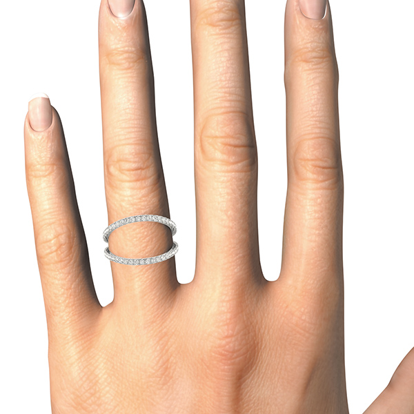 Petite Abstract Wide Split Diamond Band