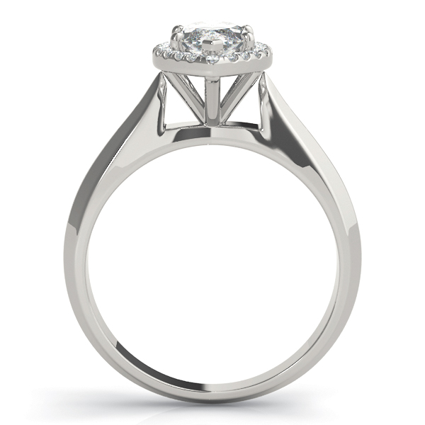 Solitaire Diamond Marquise Halo Engagement Ring