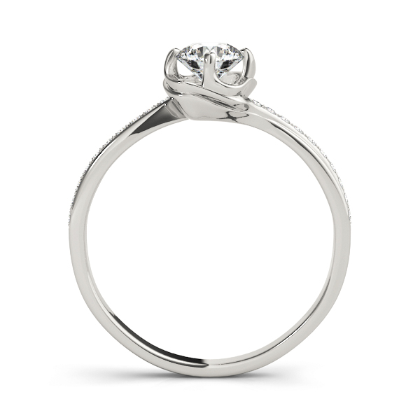 Swirl Petite Diamond Engagement Ring
