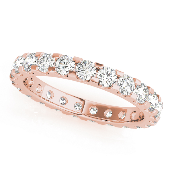 Diamond Eternity Band 3.6 Ct Rose Gold