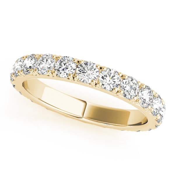 Round Diamond Eternity Band 0.9 Ct Yellow Gold