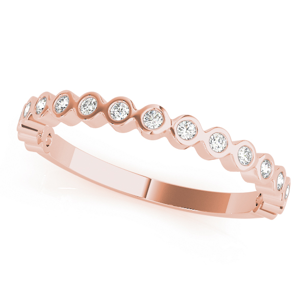 Bezel Diamond Rose Gold Stackable Ring