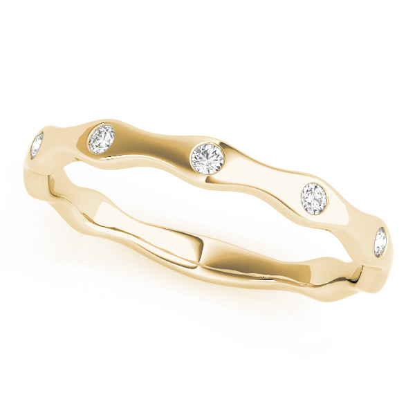 Burnished Diamond Stackable Rings Set