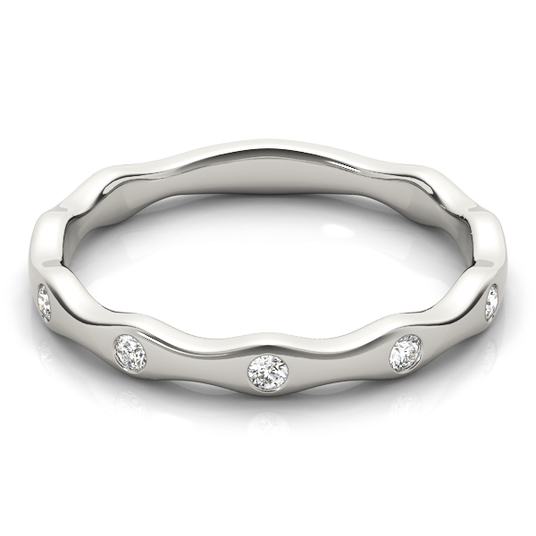 Burnished Diamond Stackable Ring