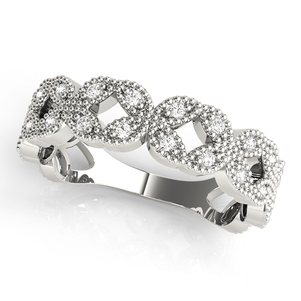 Floral Diamond Stackable Ring