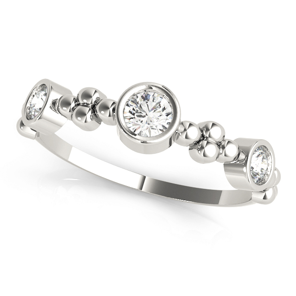 Bezel Diamond Stackable Ring