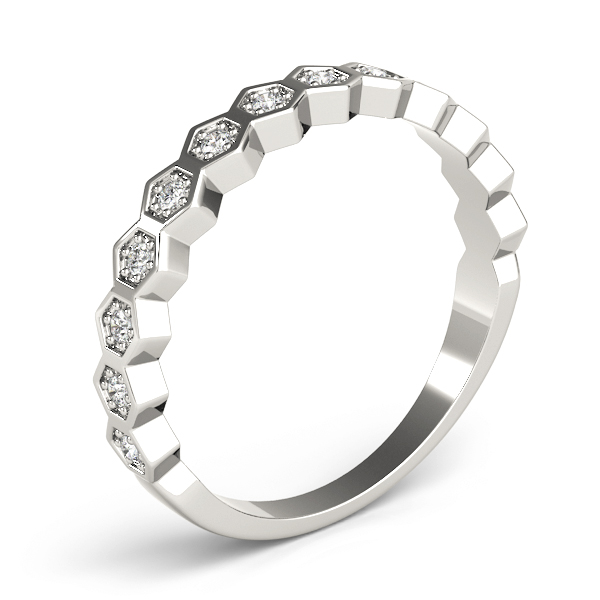 Honeycomb Diamond Stackable Ring