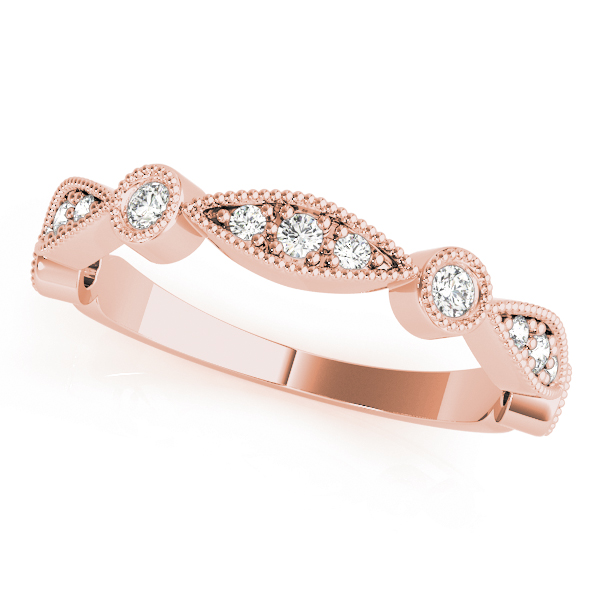 Petite Bezel Stackable Swing Band Rose Gold