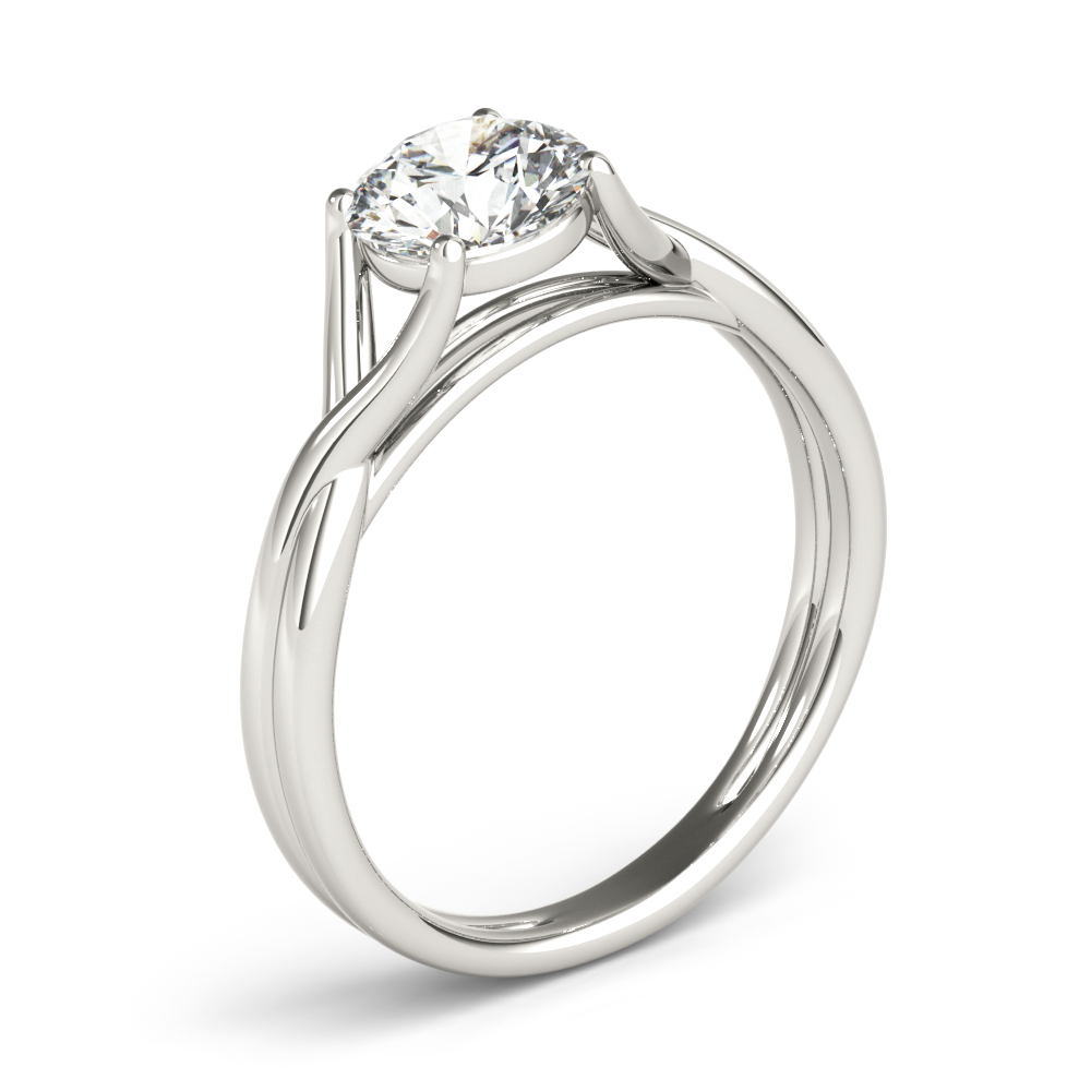 Wish Bone Solitaire Engagement Ring