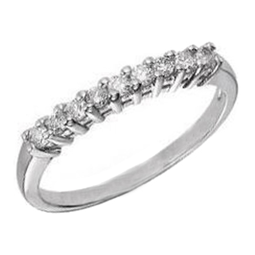 Nine Stone Round Diamonds Wedding Band 0.31 tcw.