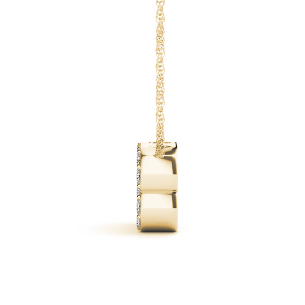 Diamond Initial B Pendant Yellow Gold