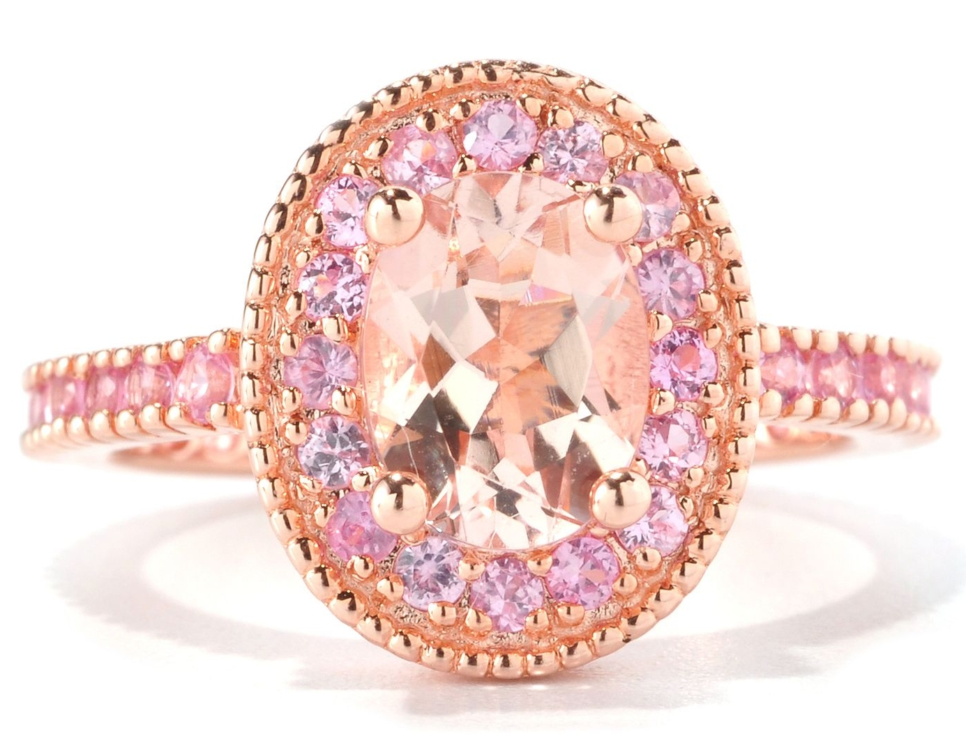 rosa ring mirella sapphire diamonds rings gold center stone quadrado pink faldini products