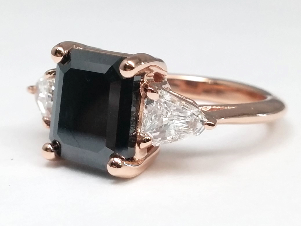 Black Diamond European Engagement Rings from MDC Diamonds NYC