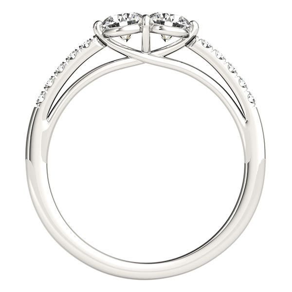 Cathedral Trellis Duo Diamond Promise Ring 0.65 tcw.