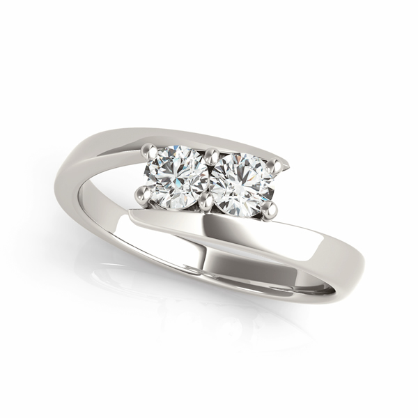 Duo Swirl Diamond Promise Ring 0.50 tcw.