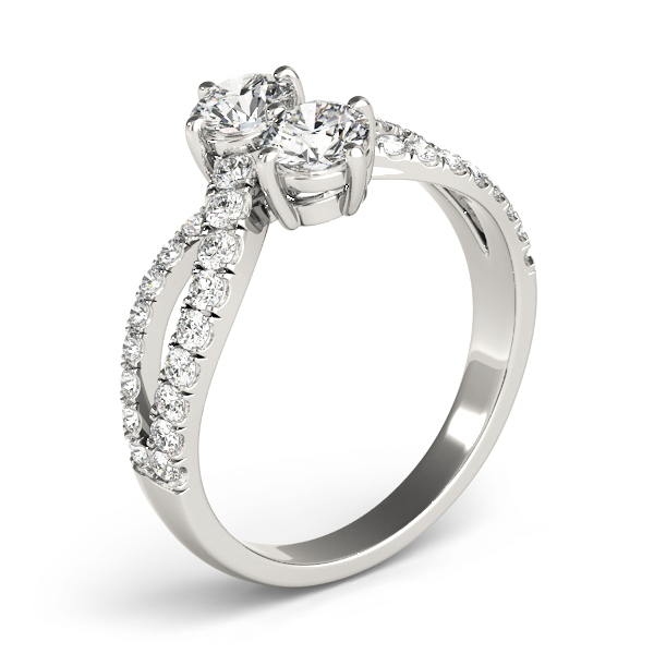 Duo Diamond Split Band Promise Ring 0.86 Carat