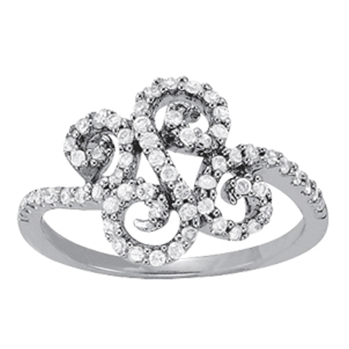 Swirl Fashion Diamond Ring