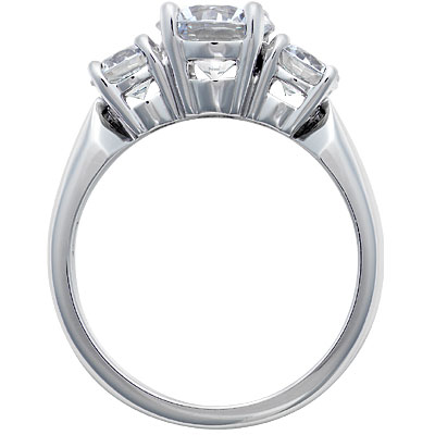 Platinum Asscher Diamond Engagement Ring Large Trapezoid Diamonds sides 1.10 tcw. Like Vanessa Minnillo's