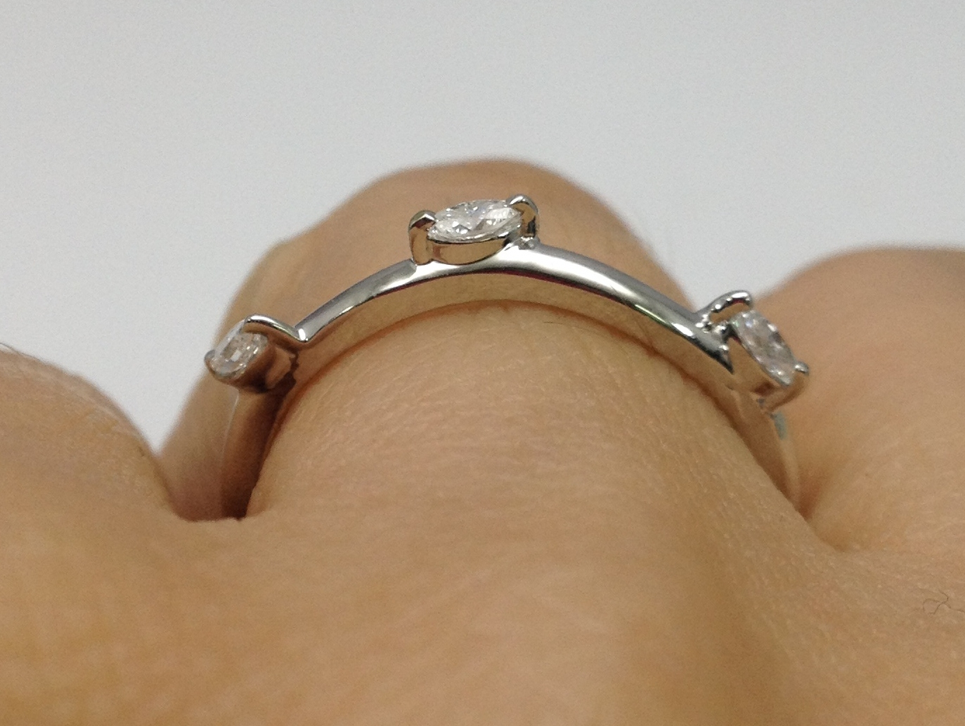 Marquise Wrap Wedding Band in 14K White Gold