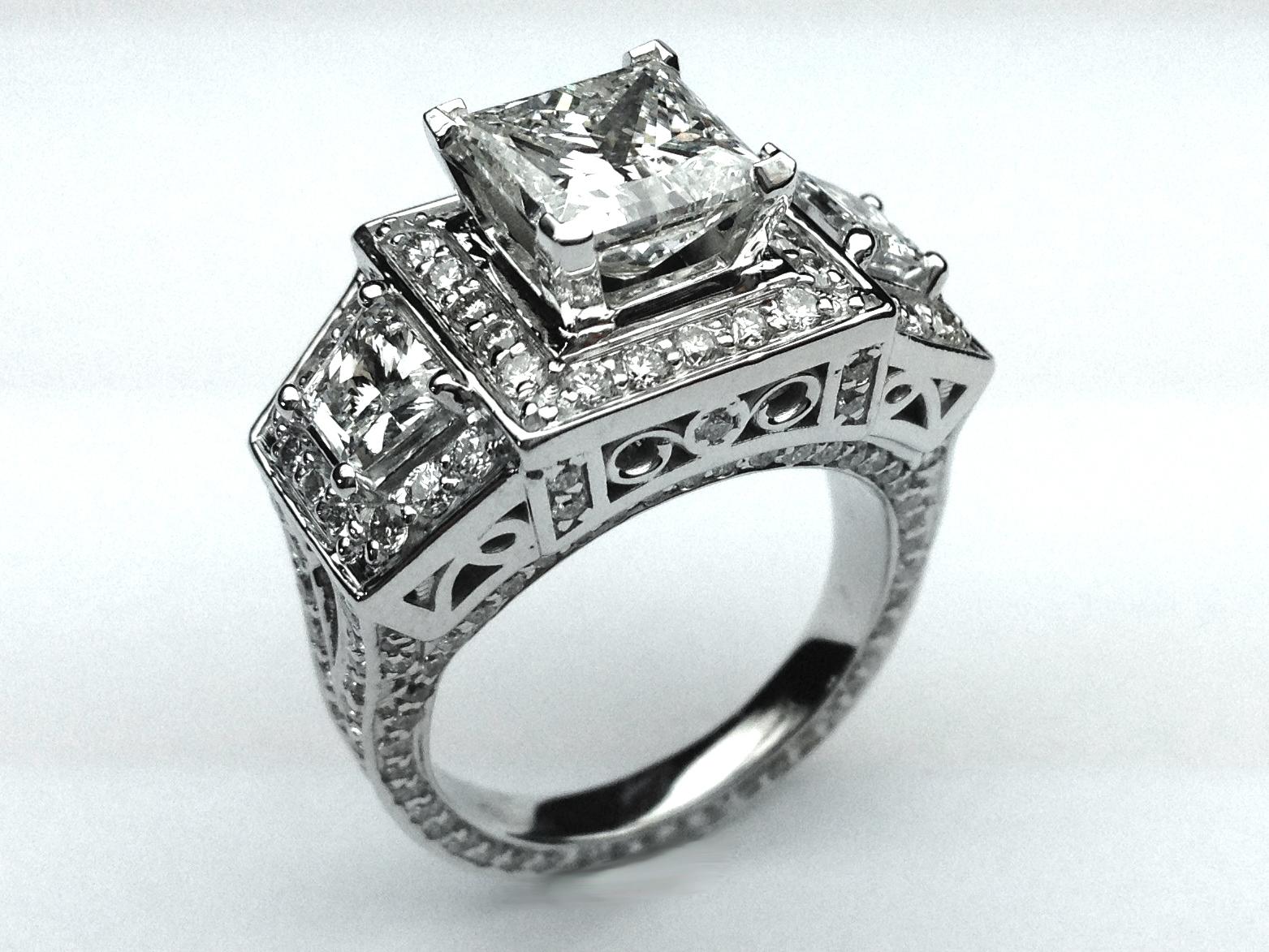 Emejing Large Diamond Wedding Rings Images Best Hairstyles in
