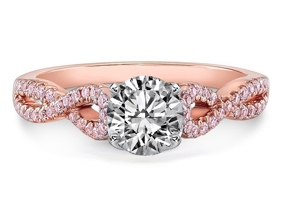 New wedding rings for newlyweds Pink diamond engagement rings canada