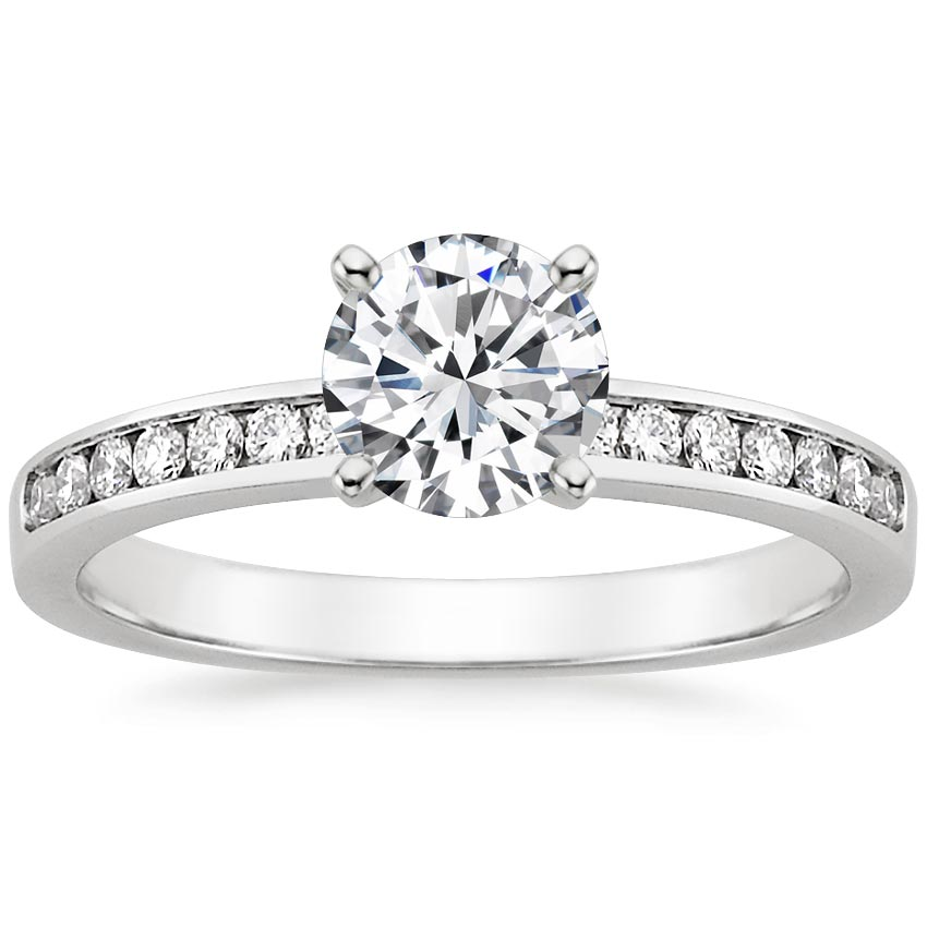 Classic Channel Set Diamond Engagement Ring
