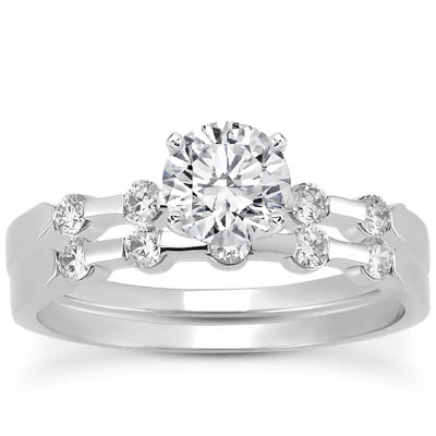 Petite Bar Set Diamond Bridal Set