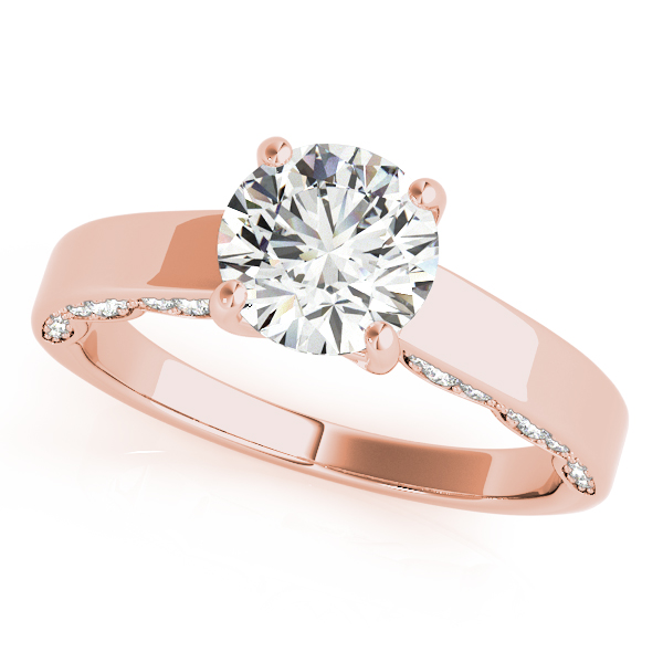 Modern Solitaire Engagement Ring in Rose Gold