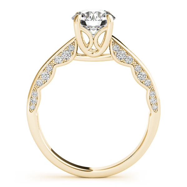 Modern Solitaire Engagement Ring in Yellow Gold