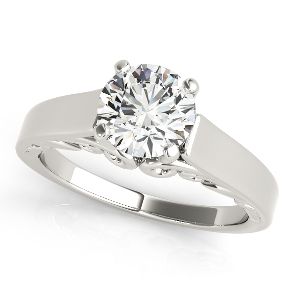 Solitaire Filigree Cathedral Engagement Ring