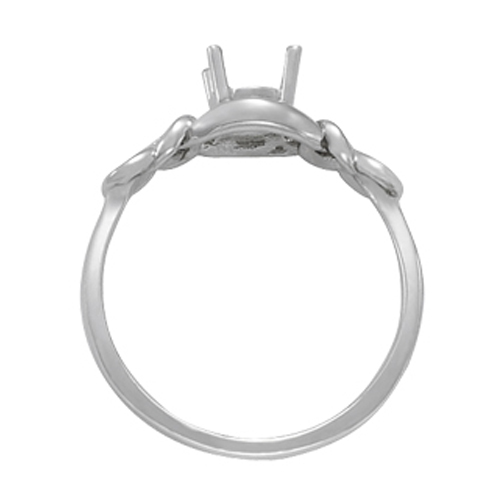 Love Knot Solitaire Diamond Ring, 0.25ct