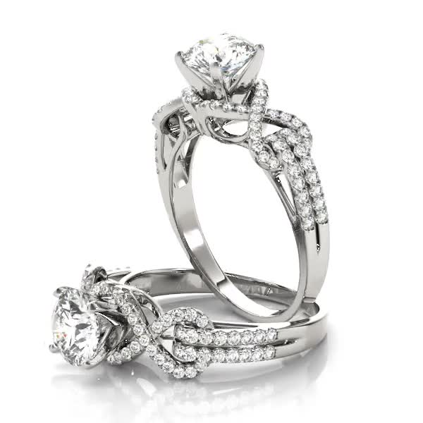 Infinity Love Knot Diamond Engagement Ring