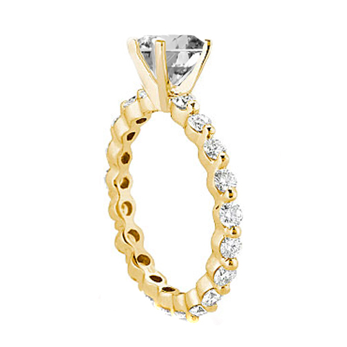 Eternity Diamond Engagement Ring Setting 0.63 tcw. 14K Yellow Gold