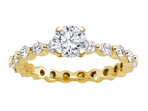 Eternity Diamond Engagement Ring Setting 0.63 tcw. In 14K Yellow Gold