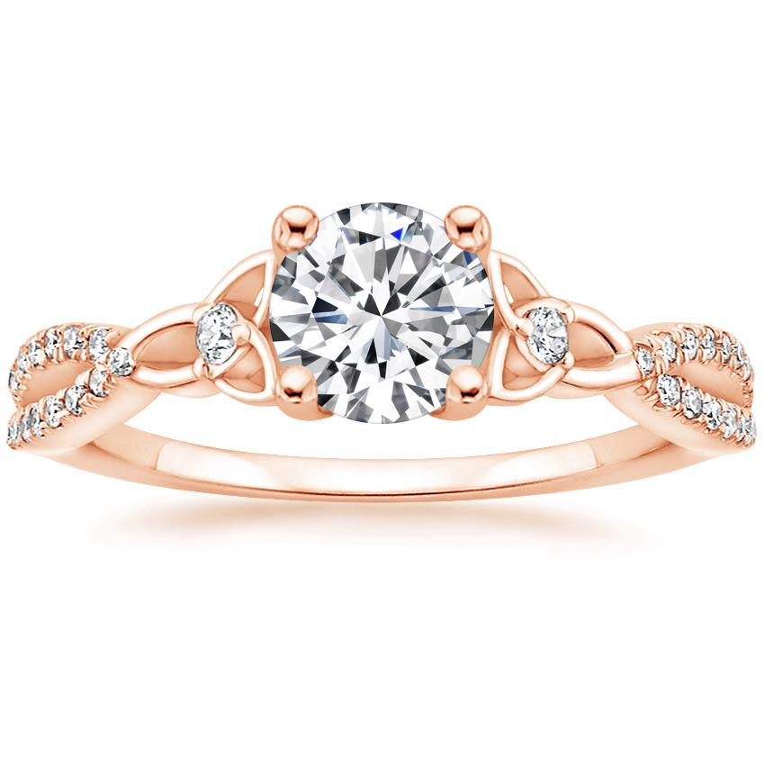 Celtic Love Knot Diamond Ring Rose Gold