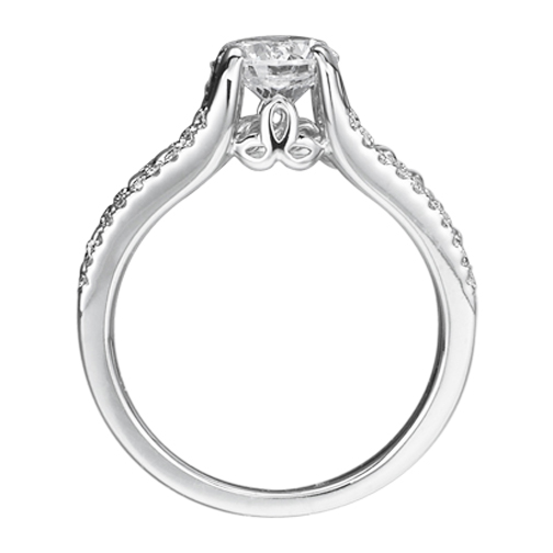 Double Helix Diamond Engagement Ring 0.80 tcw.