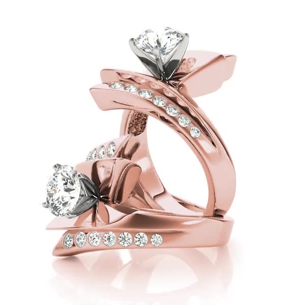 Flash inspired Diamond Engagement Ring in Rose Gold