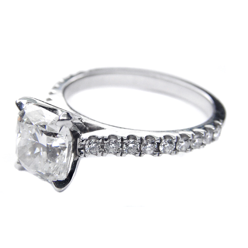 Cushion Cut Cathedral Prong Set Diamond Engagement Ring 0.36 tcw. Like Reese Witherspoon's