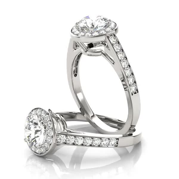 Embrace Halo Diamond Engagement Ring