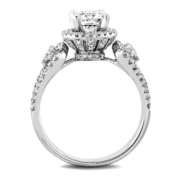 Crown Victoria Diamond Engagement Ring