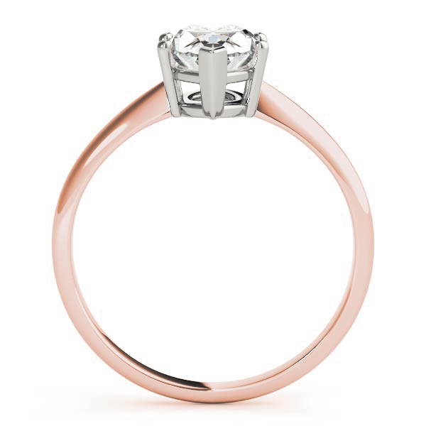 Classic Solitaire Marquise Engagement Ring Rose Gold
