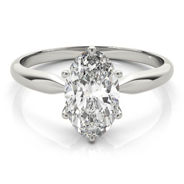 Classic Solitaire Oval Engagement Ring
