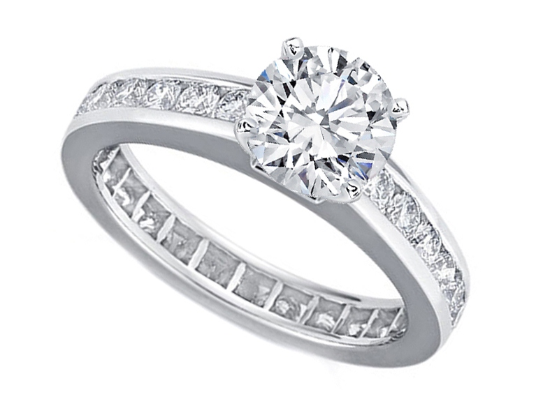 Diamond Eternity Engagement Ring Setting 1.00 tcw.